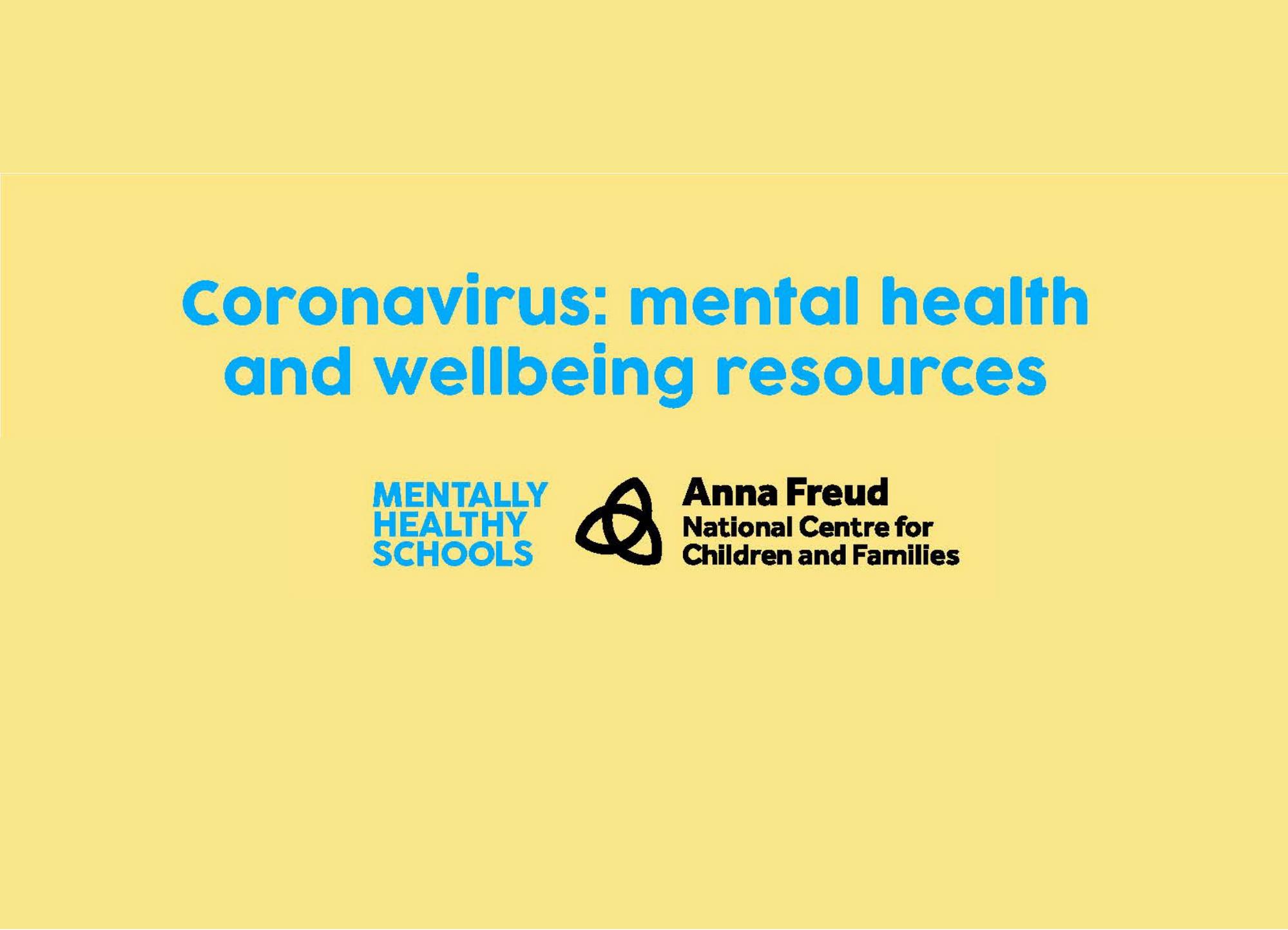 Coronavirus mental health and wellbeing resources